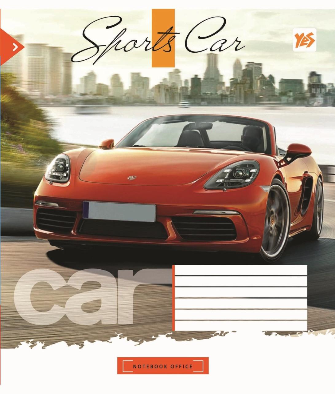 Зошит 18арк. кліт. YES Sport car №761526(25)(400)