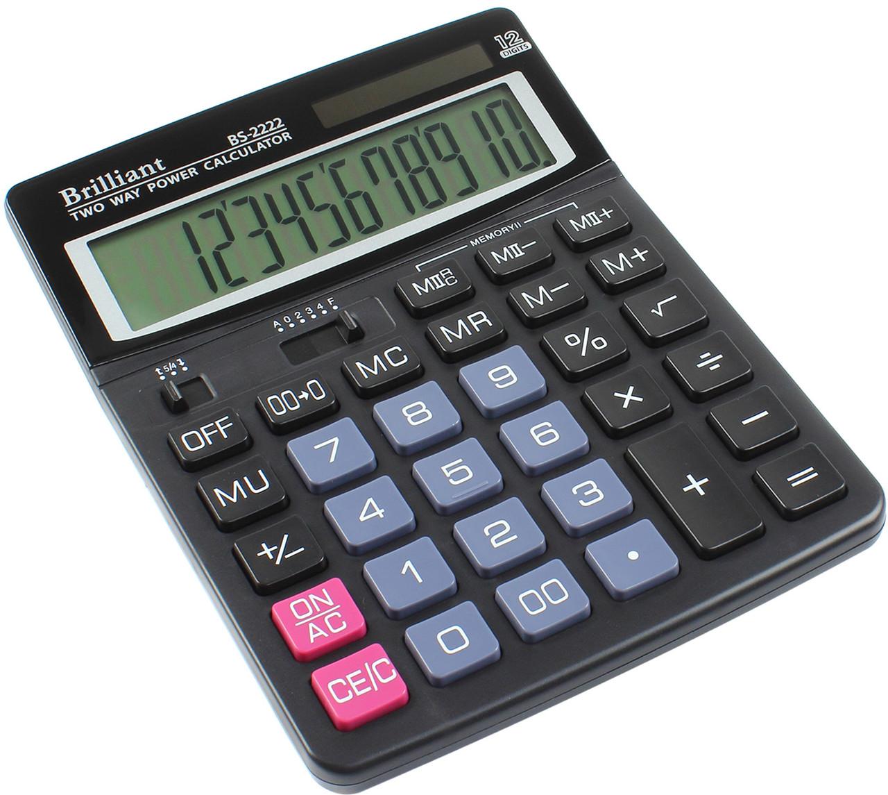 "Калькулятор ""Brilliant"" №BS-2222 (12-розряд.)"