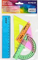 """Набір геометричний """"Kite"""" №K17-281 (лінійка 15см,транспортир)(24)(96)"""