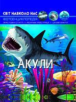 """Книжка А4 """"Світ навколо нас. Акули"""" №9147 тб. обкл./Бао/(10)"""