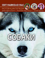 """Книжка A4 """"Світ навколо нас. Собаки"""" №7488 тв. обкл./Бао/(10)"""