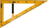 """Трикутник пласт. """"Zibi"""" Teacher №5638 для шкільної дошки 50см. 90х60,жовтий (1)(50)"""