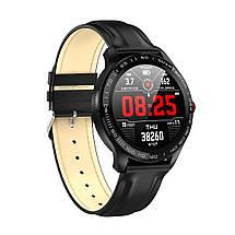 Умные часы Lemfo L9 leather с измерением давления и ЭКГ (Черный), фото 2