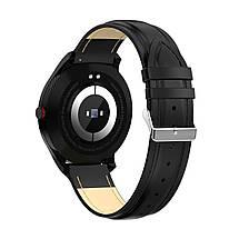 Умные часы Lemfo L9 leather с измерением давления и ЭКГ (Черный), фото 3