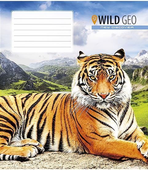 """Зошит 12арк. лін. Школярик """"Wild geo"""" №012-2566L(30)(300)"""