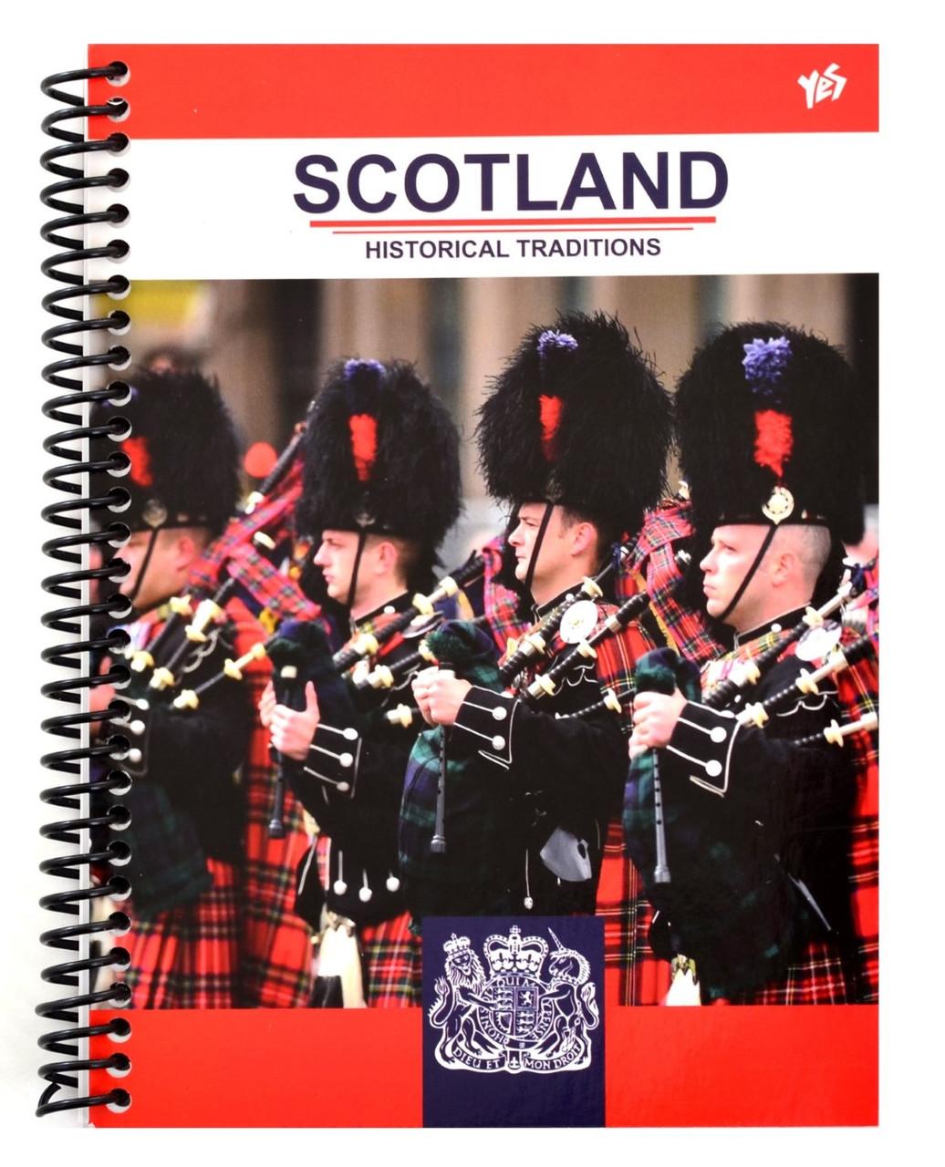"Зошит пруж. А5 80арк. кліт. тв. обкл. ""Scotland"" №680995/Yes/(10)"