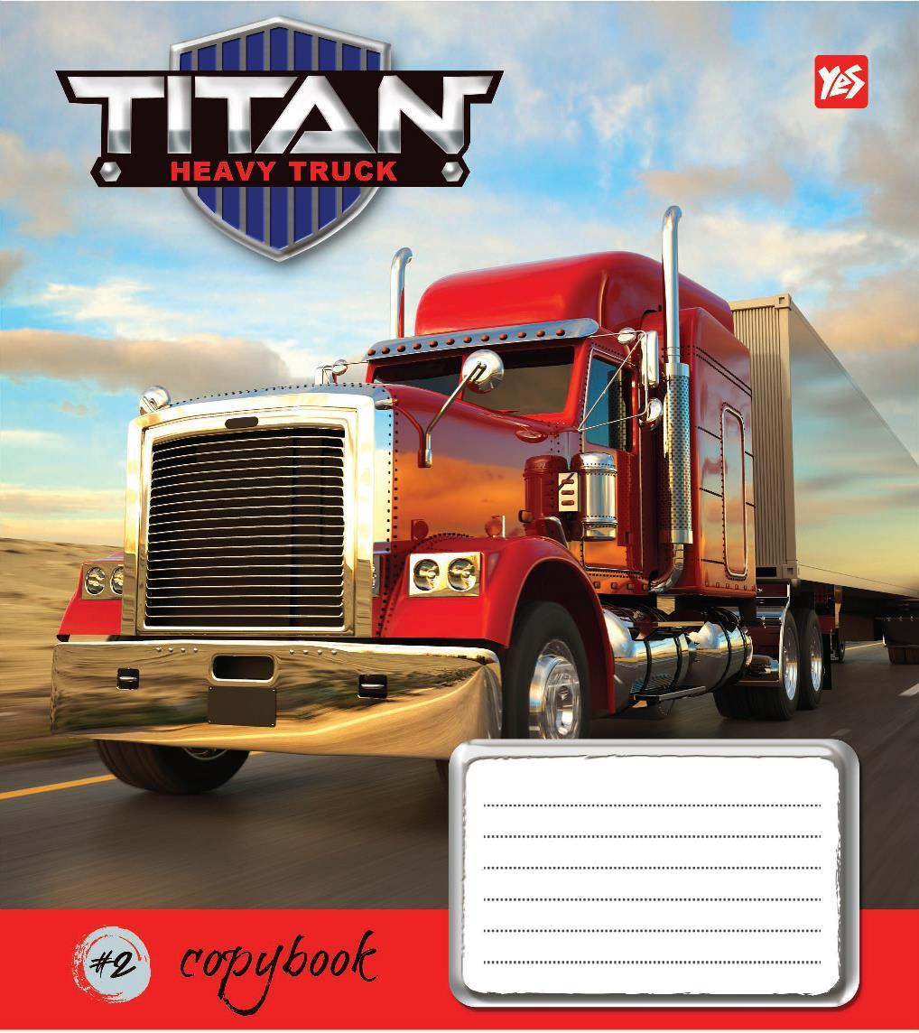 Зошит 48арк. лін. YES Titan truck №762135(10)(200)