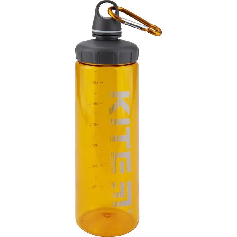 """Пляшка для води пласт. """"Kite"""" 750мл помаранчева №K19-406-07(12)"""