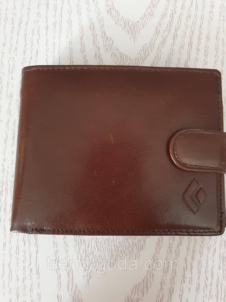Мужской кожаный  кошелек бумажник, портмоне коричневый