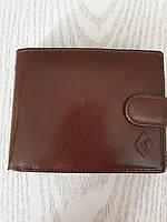 Мужской кожаный  кошелек бумажник, портмоне коричневый, фото 1