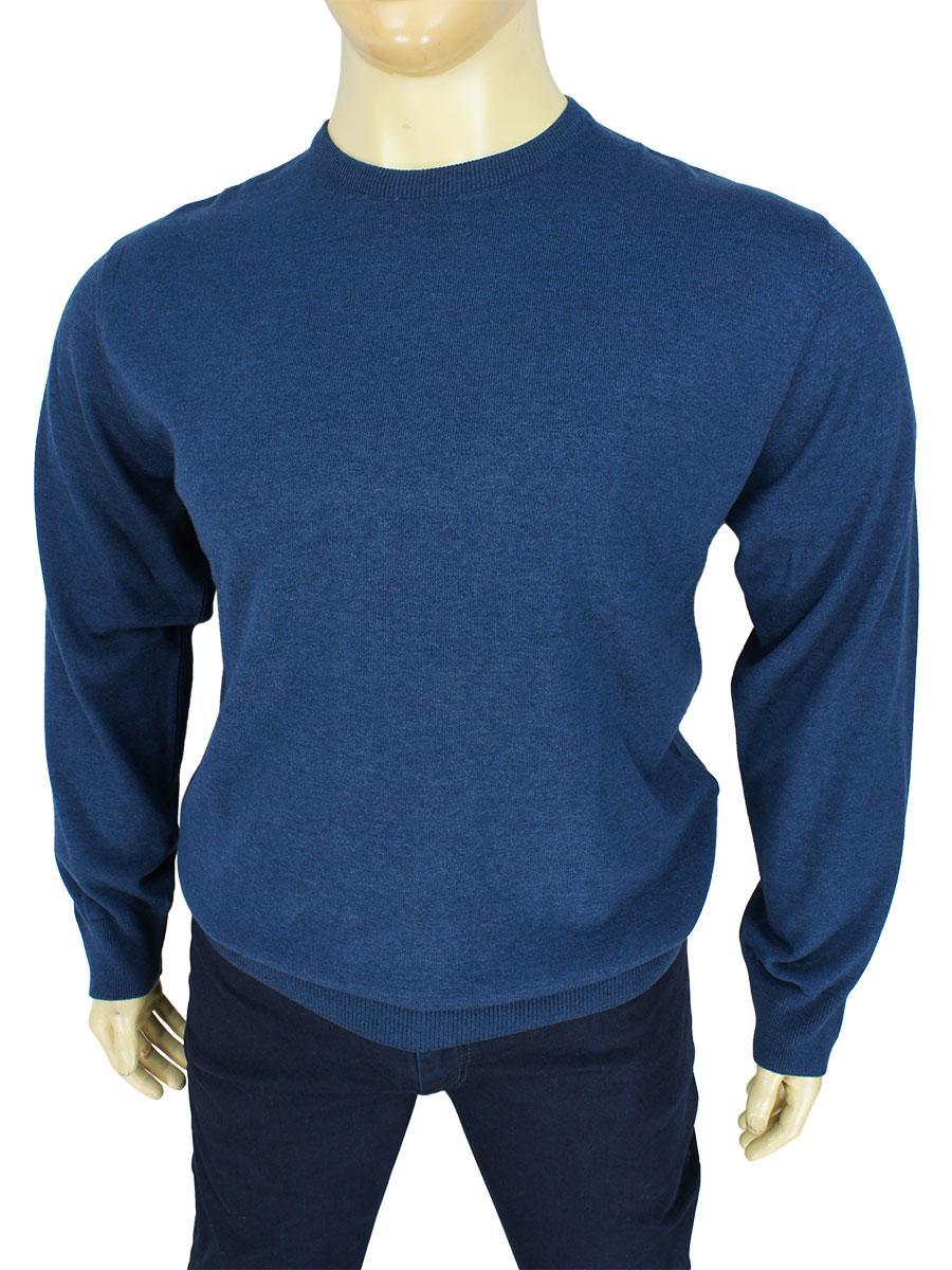 Однотонный мужской свитер Better Life BT-1101B Indigo