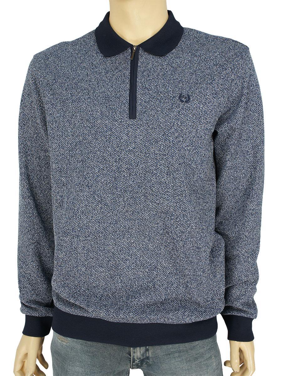 Стильный мужской свитер Caporicco 9108 H Laci с отложным воротником на молнии