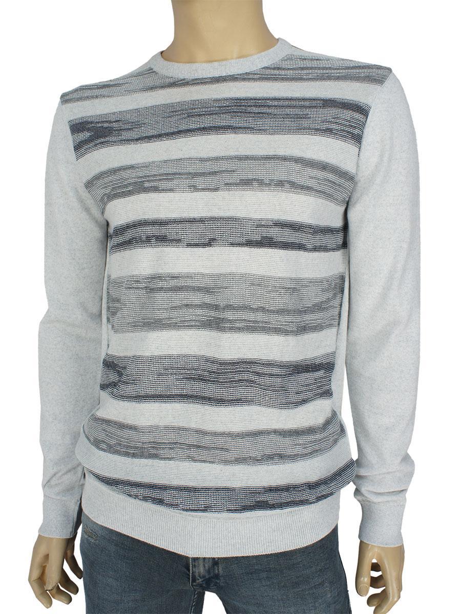 Светло-серый мужской свитер Yamak 28056 H grey