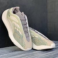 Мужские кроссовки серо-зеленные Adidas Yeezy 700 V3 серые с зелёным (Адидас ИЗИ 700 В3). Кроссы мужские