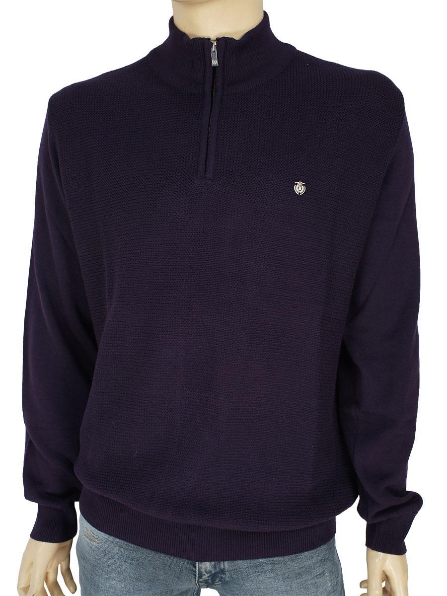 Турецкий мужской свитер Better Life BT-1023 K.Mor темно-фиолетового цвета