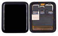 Дисплей (Экран) для умных часов Apple Watch Sport Series 2 (42mm) с сенсорным стеклом (Черный) Оригинал Китай