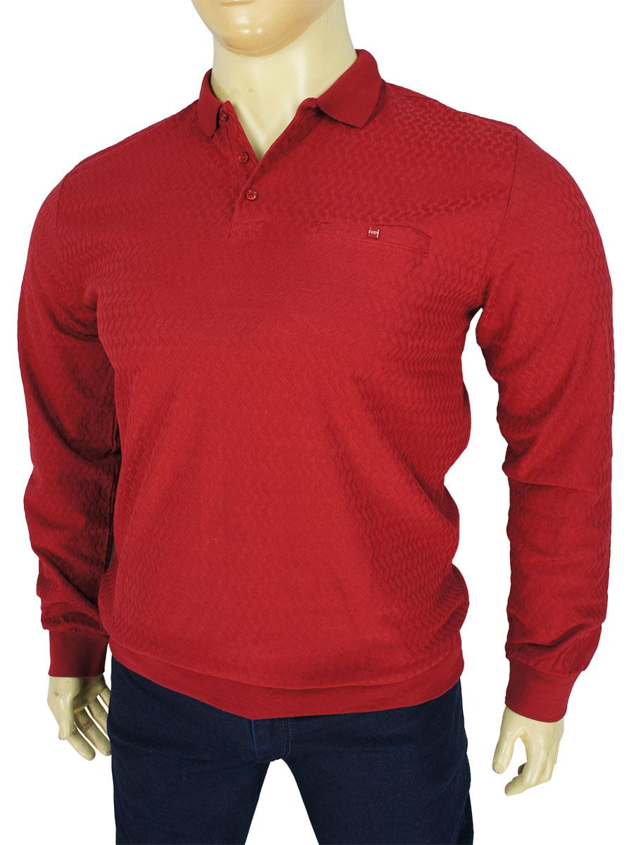 Однотонний чоловічий джемпер Fabiani 23504 M. Red в червоному кольорі