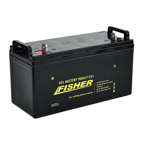 Гелевый аккумулятор 90Ah Fisher 12V, фото 2