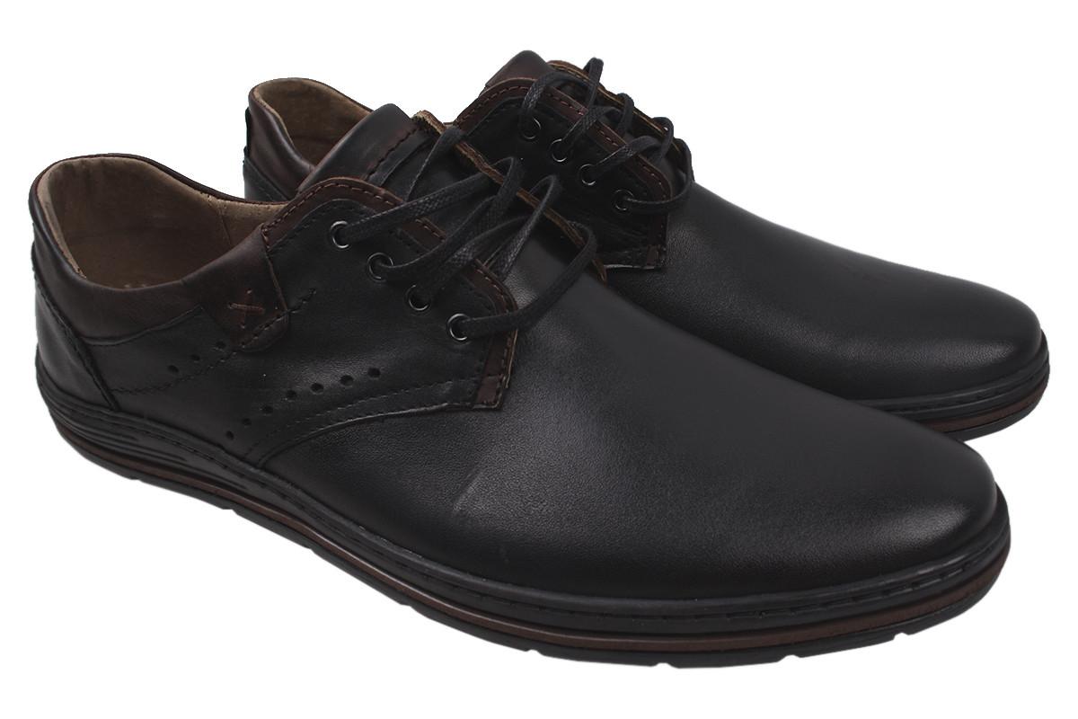 Туфлі чоловічі Polbut натуральна шкіра, колір чорний, розмір 46-48 Польща