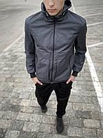 Ветровка мужская Sprinter x grey весенняя осенняя / куртка с капюшоном летняя