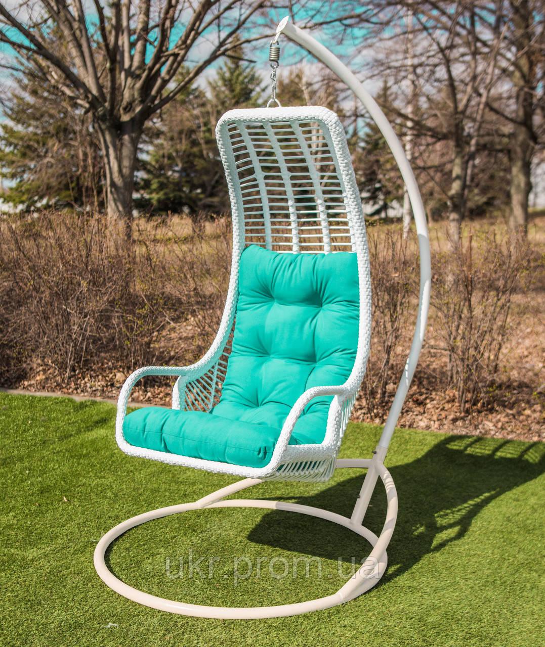 Підвісне крісло «Ліго» білого кольору