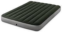 Матрас надувной двухместный Intex 64109 152х203х25 см, зеленый, фото 1