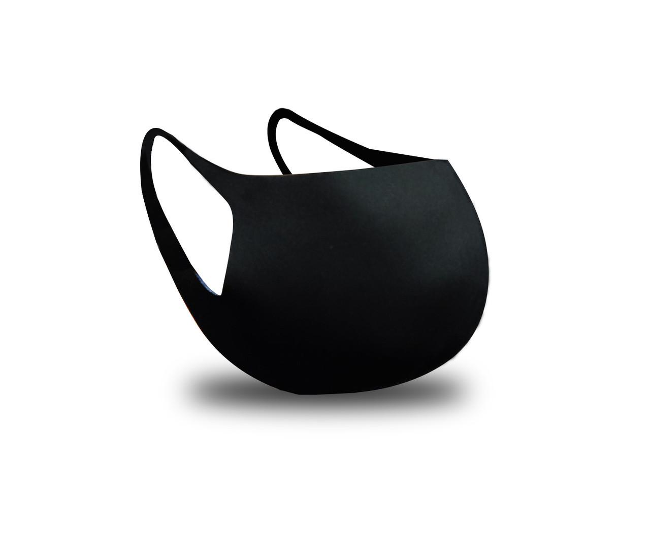 Багаторазова захисна маска для обличчя Fandy+ Standart 3-х шаровий неопрен чорна жіноча