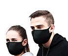 Багаторазова захисна маска для обличчя Fandy+ Standart 3-х шаровий неопрен чорна жіноча, фото 6