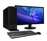 Компьютер в сборе, Intel Core i3 2120, 4 ядра по 3,2 ГГц, 4 Гб ОЗУ DDR-3, HDD 250 Гб, монитор 24 дюйма, фото 1