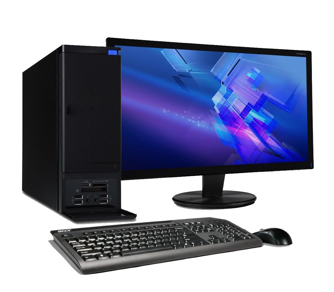 Компьютер в сборе, Intel Core i3 2120, 4 ядра по 3,2 ГГц, 4 Гб ОЗУ DDR-3, HDD 1000 Гб, монитор 24 дюйма