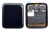 Дисплей (Экран) для умных часов Apple Watch Sport Series 3 LTE (38mm) с сенсором (Черный) Оригинал Китай