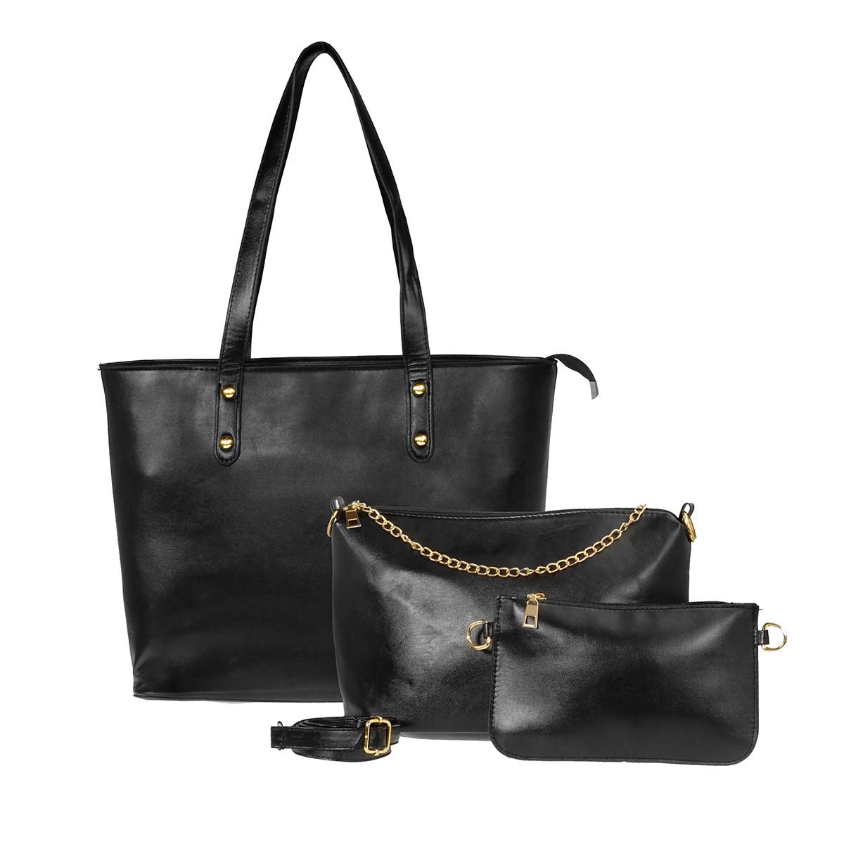 Набір жіночих сумок 3 шт. (Чорний)