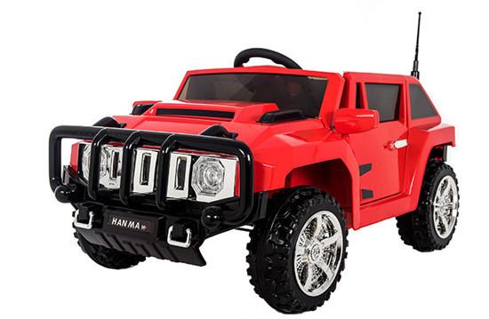Детский электромобиль T-7836 EVA RED джип на Bluetooth 2.4G Р/У 12V7AH мотор 2*20W с MP3 112*71*56 /1/
