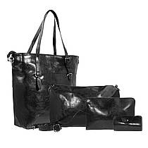 Набор женских сумок 4 шт. (Черный)