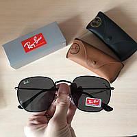 Солнцезащитные очки в стиле Ray Ban Hexagonal черные