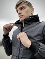 Ветровка мужская Sprinter x grey весенняя летняя / куртка с капюшоном