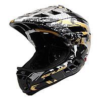 Детский велоспорт PRO Полнолицевый шлем Съемный дышащий самокат ПК + EPS 53-58см-1TopShop