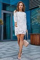 Платье нарядное молодежное белого цвета