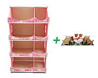 Кукольный домик-шкаф Hega с росписью мраморный (090B1) + Мебель для кукол (maxi набор) в подарок, фото 1