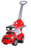 Детская Машинка толокар с родительской ручкой BambiFD-6812-3, ЗВУК, красная, фото 1