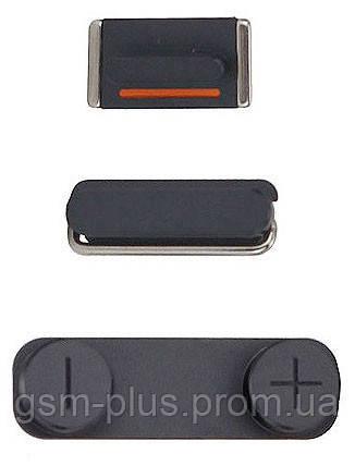 Кнопка включения iPhone 5 (3 шт. Power, Mute, Volume) Black