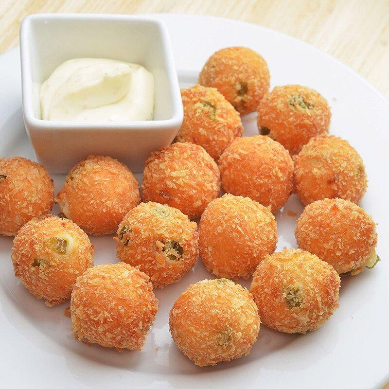 Закуска сырные шарики халапеньо, фасовка по 1 кг