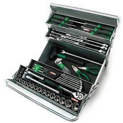 Набор инструментов в ящике TOPTUL (5 секций) 63 ед. GCAZ0039