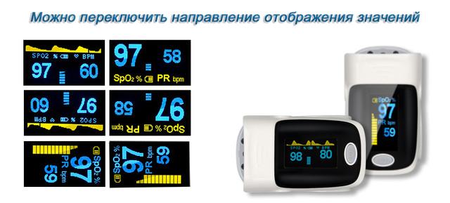Пульсоксиметр пальцевой на батарейках