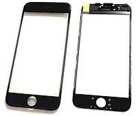 """Стекло дисплея iPhone 6S (4.7"""") для переклейки с рамкой и OCA Black"""