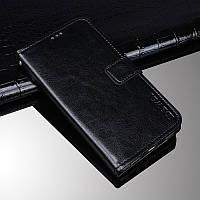 Чехол Idewei для Lenovo Z5s книжка с визитницей черный