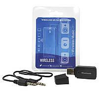 Автомобильный Bluetooth адаптер Lesko H-163 USB порт AUX 3.5 блютуз 2.1 приемник аудио ресивер радиус 10м, фото 5