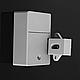 Электронный RFID скрытый замок для мебели с 2 ключами, набор, фото 6