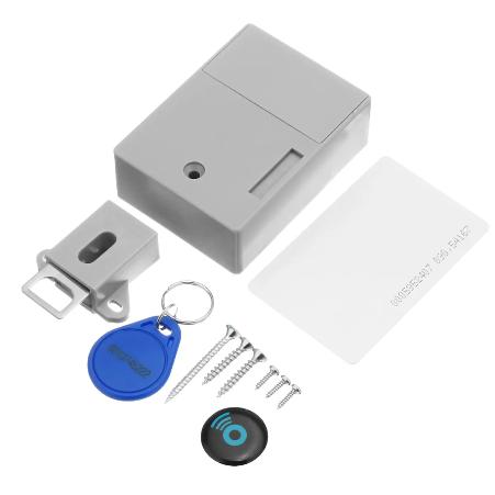 Электронный RFID скрытый замок для мебели с 2 ключами, набор