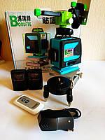 ᐉОТКАЛИБРОВАН в 0мм!!  Boruite 4D Лазерный уровень li-ion +д.у. ПУЛЬТ+КРОНШТЕЙН в подарок, фото 1